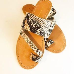 Topshop Snake Sandals - Size 7